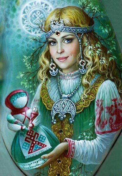 Русские Берегини в лаковой миниатюре Светланы Беловодовой
