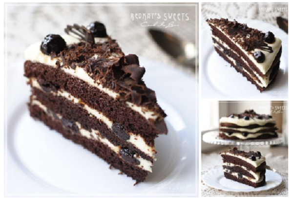 Шоколадный торт с вишнями — Вариации на тему «Черный лес»