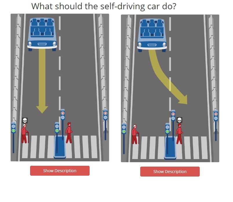 Ученые предложили выбрать, кого должен убить беспилотный автомобиль