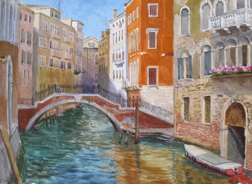 Рисовать гуашью венецию
