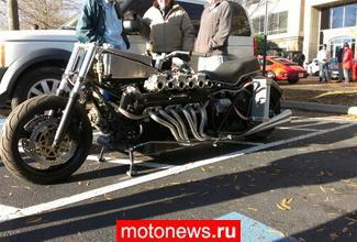 Мотоцикл с двигателем от Lamborghini