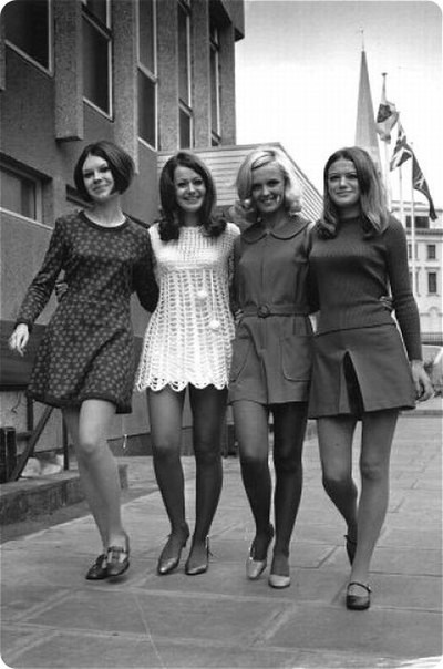 Мини юбка в 70 годы