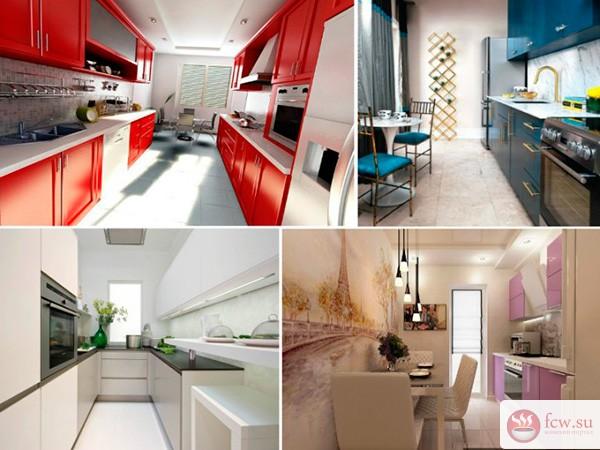 Мебель узкая кухня дизайн