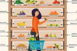 Откуда овощи и фрукты на российских прилавках? Инфографика
