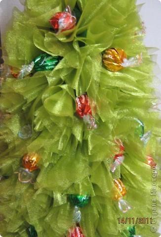 Мастер-класс, Свит-дизайн: МК елочки из конфет Новый год. Фото 21