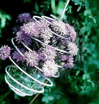 цветы, парящие в воздухе, идеи для цветочной композиции