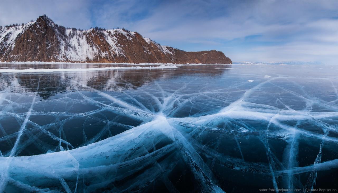 Удивительный Байкал: Мгновенное замерзание и сосульки вместо волн