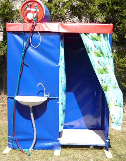 Как делать душ на даче