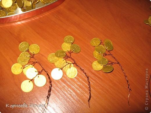 Как сделать дерево из монет и проволоки своими руками