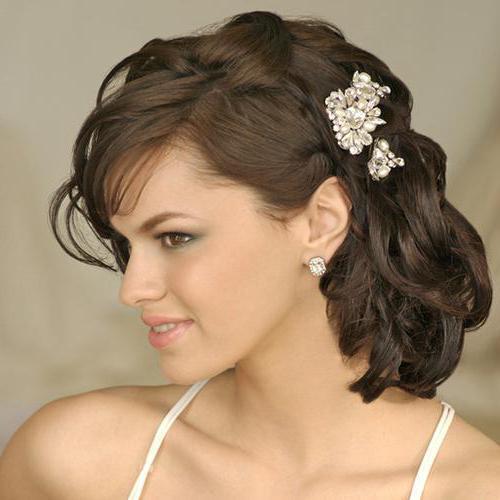 свадебные прически на волосы до плеч фото