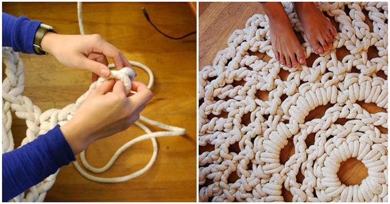 Неожиданное использование бельевой верёвки в удачном рукоделии