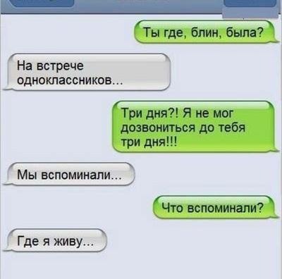 СМС-переписки.