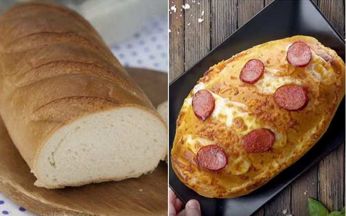 Пицца из батона - простое и вкусное блюдо