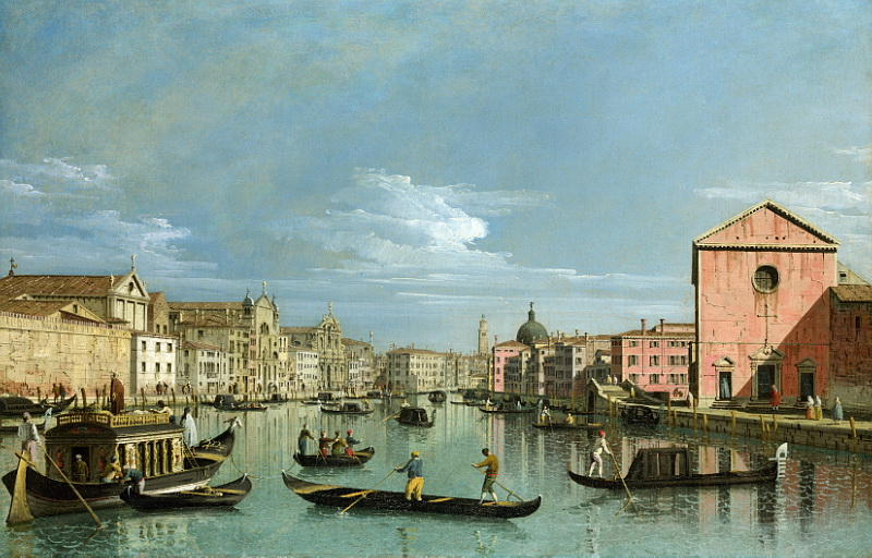 Bernardo Bellotto - Venice - The Grand Canal facing Santa Croce. Национальная галерея, Часть 1
