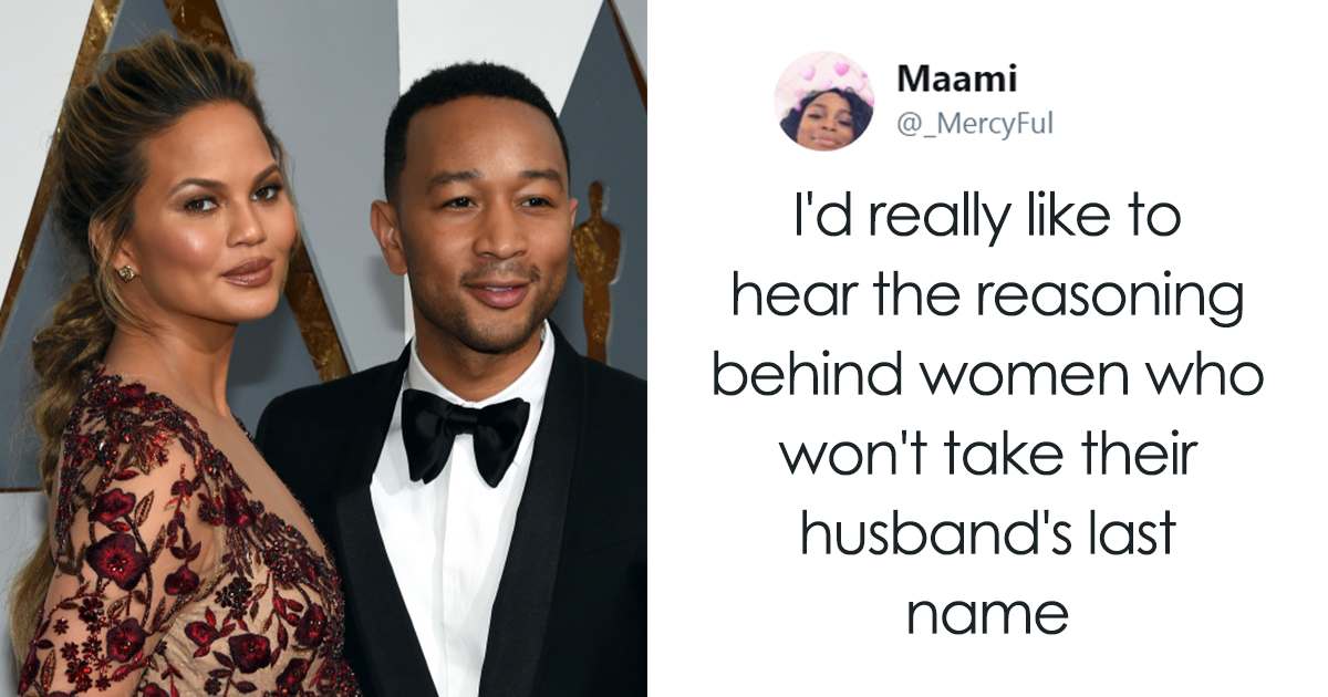 Someone Asked Why Women Don't Take Their Husband Names, And Chrissy Teigen Had The Best Response