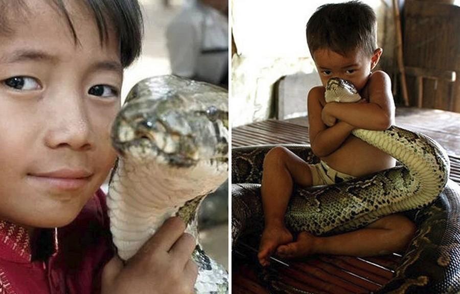Камбоджи: Мальчик и его пяти…