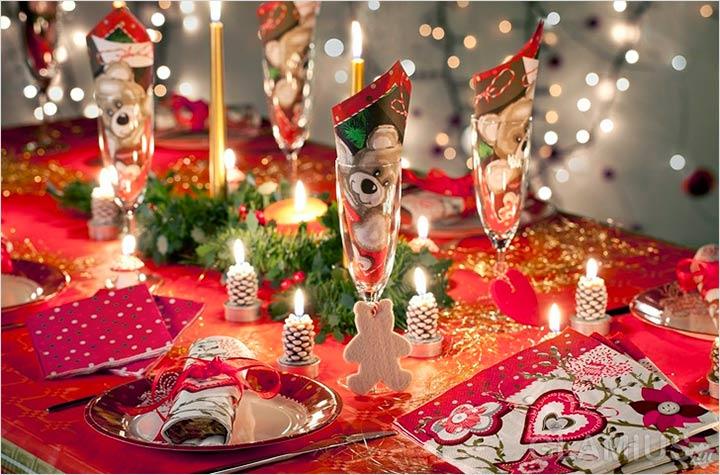 Украшение новогоднего стола - простые способы и оригинальные идеи!