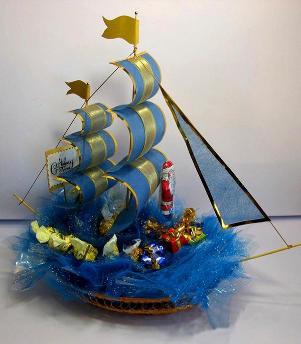 Как сделать подарочные корабли