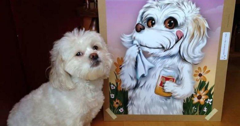 Мультяшные портреты домашних животных