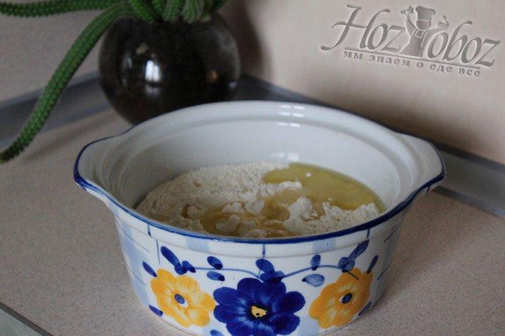 Доливаем необходимое количество оливкового масла