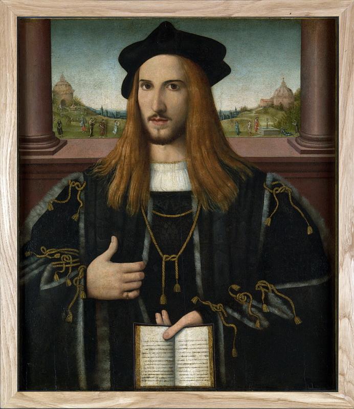 Bernardino Loschi - Portrait of Alberto Pio. Национальная галерея, Часть 1