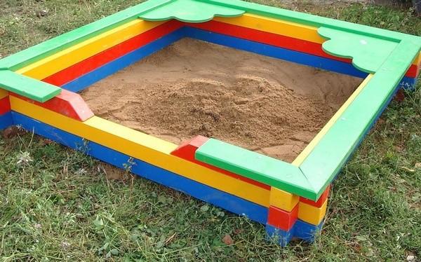 песочница своими руками фото
