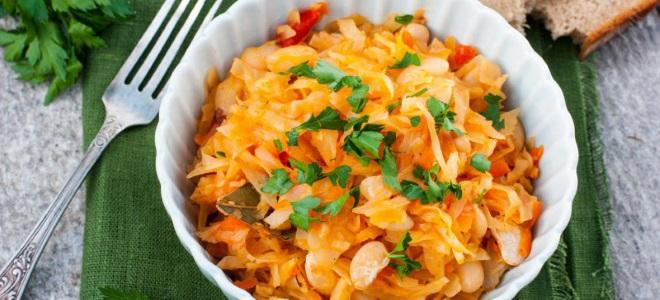солянка с фасолью и капустой