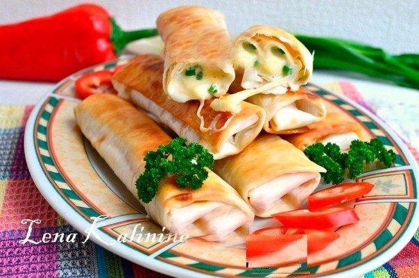 Это блюдо запомнится всем — Лаваш, жареный с сыром!