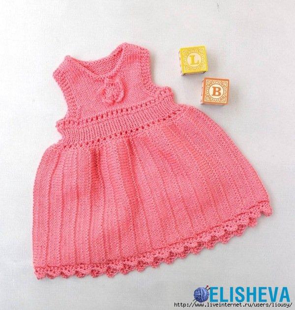 вязаное платье для девочки самое интересное в блогах