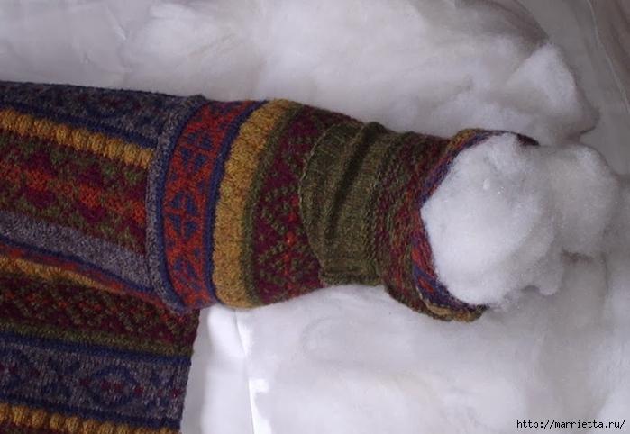 Cuna de gato de un viejo suéter.  Master Class (3) (700x482, 209KB)