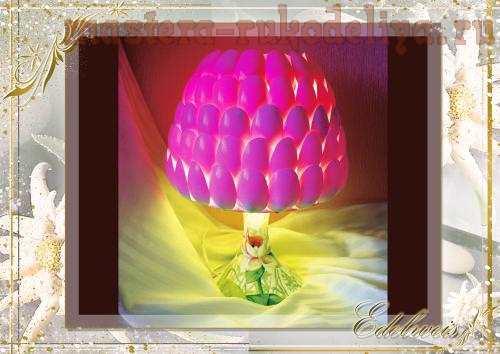 Лампа из пластиковых ложек «Дюймовочка». Мастер-класс.