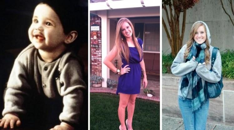 Малыш Пуберт Аддамс (близняшки Кейтлин и Кристен Хоппер) семейка аддамс, тогда и сейчас, фото