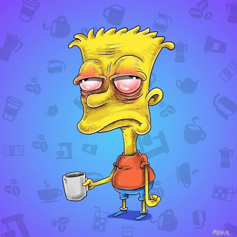 Мультяшки до того, как выпьют свой утренний кофе