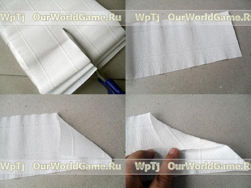 Мастер класс винтажная елочка из гофрированной бумаги.