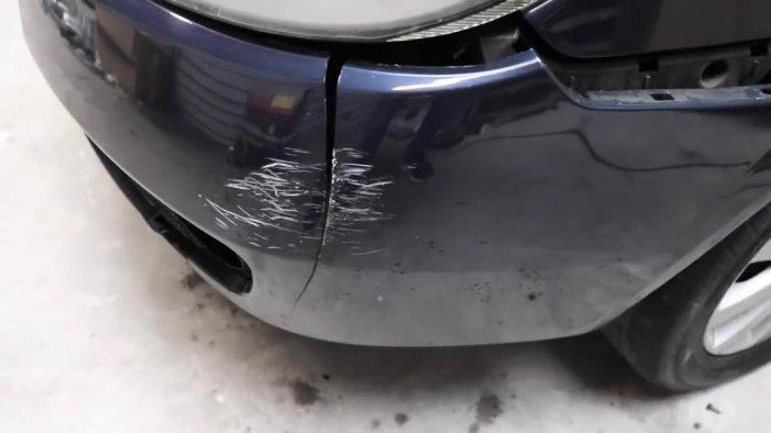 Как отремонтировать трещину на бампере авто?