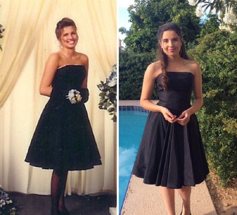Девушки нарядились на выпускной в платья своих матерей. Выглядят потрясающе, правда?