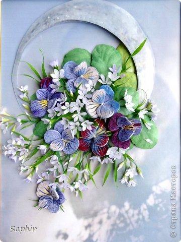 Мастер-класс Бумагопластика Маленькие цветочки из бумаги Кристал  Бумага гофрированная фото 14