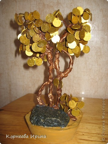 Мастер-класс День рождения Моделирование конструирование Денежное дерево МК фото 21