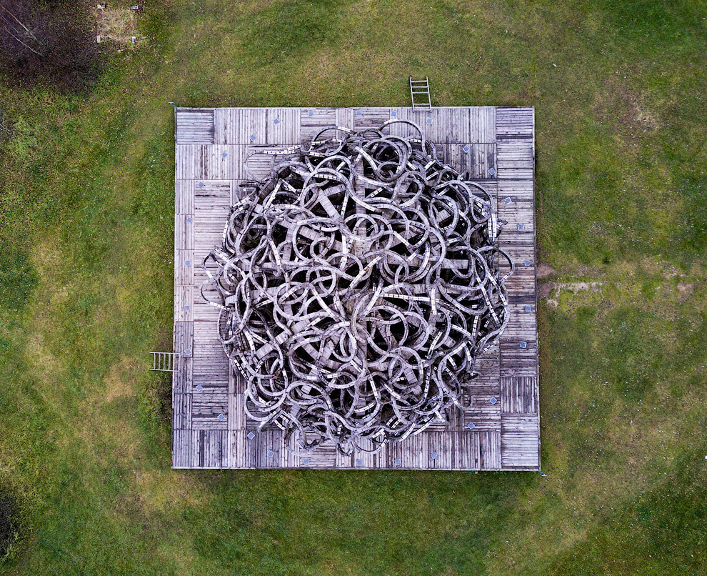Арт-парк «Никола-Ленивец» с высоты птичьего полета