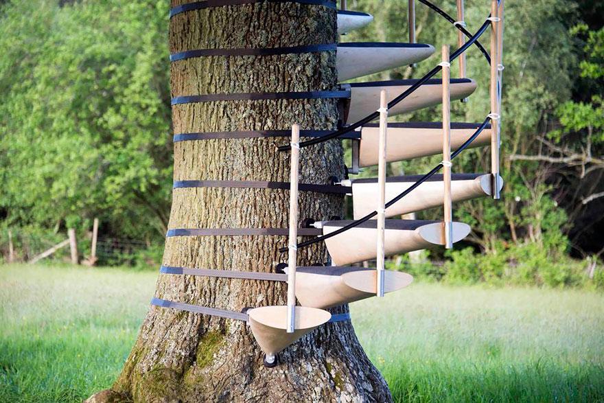 Как сделать лестницу на дерево своими руками