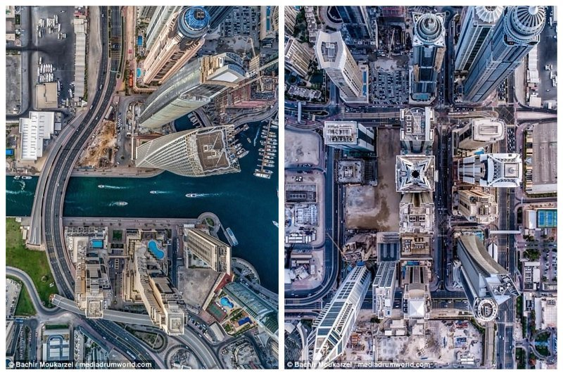 Современный и перспективный район Dubai Marina, вокруг рукотворного залива на западе Дубая Дубай фото, аэросъемка, дрон, дубай, дубай достопримечательности, квадрокоптер, с высоты птичьего полета, снимки с дрона