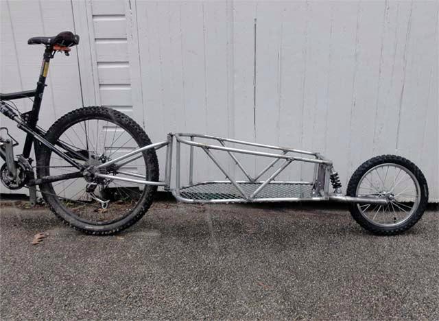 Прицеп для велосипеда с одним колесом своими руками