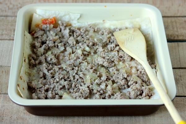 Мясная начинка для лазаньи