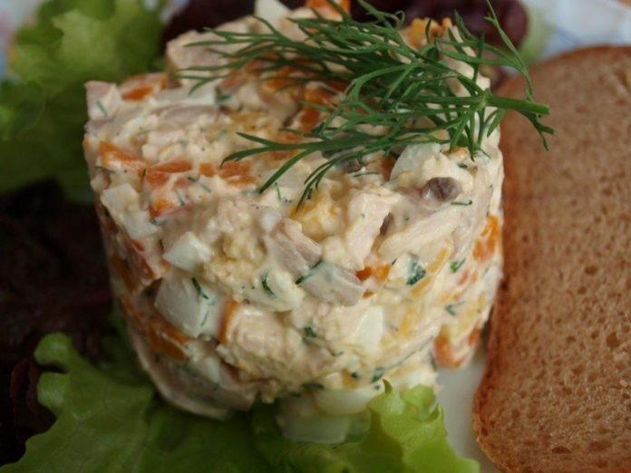 """Салат """"Цыпленок"""" — попробовав этот салат, ты забудешь обо всем."""