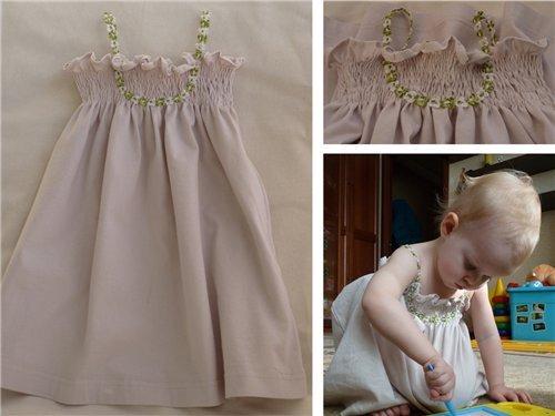 Детское платье из старой футболки