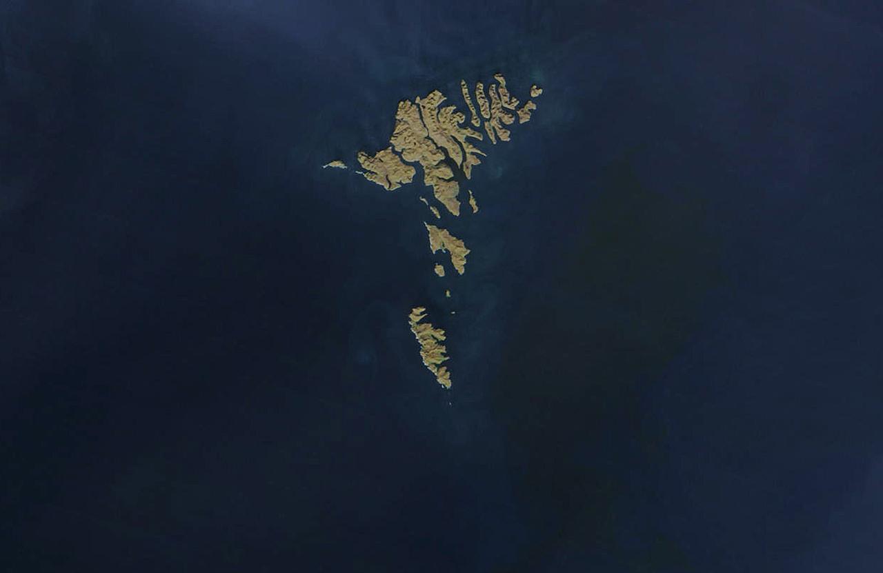 Фото достопримечательностей Стран Скандинавии: Ферерский архипелаг, сфотографированный из самолета