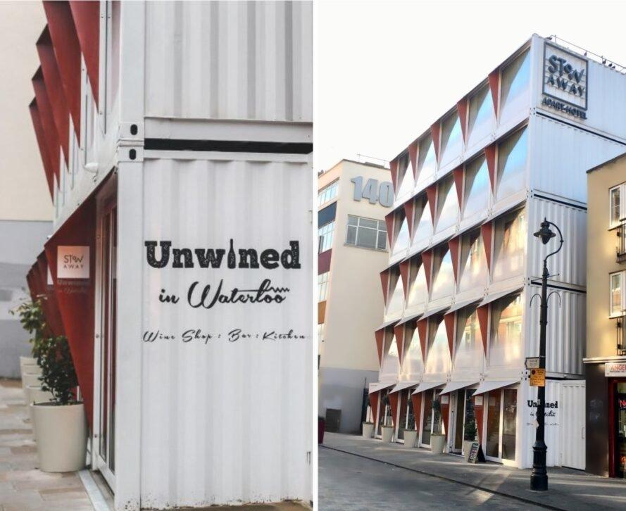 Фешенебельный отель из старых транспортных контейнеров в Лондоне