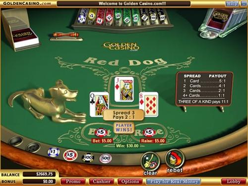 """Правила игры """"Red Dog"""" в онлайн казино"""