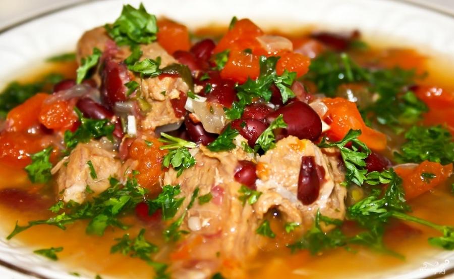 Лобио из фасоли с мясом классический рецепт