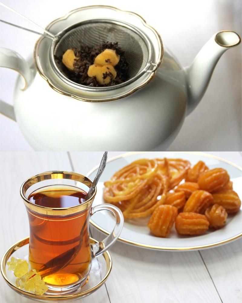 крепкий ароматный чай